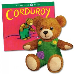 Corduroy Plush and Hard Book Set