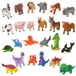 Soft and Squeezable Animal Playset