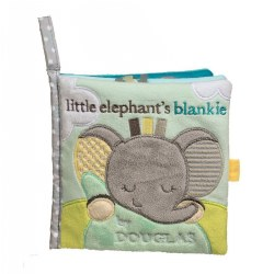 Sweet Little Gray Elephant Crinkle Cloth Activity Book