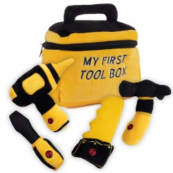 Plush My First Tool Box with 4 Plush Soft Talking Tools Set