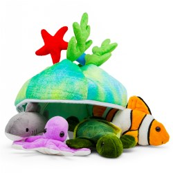 Plush Sea Creatures Talking Animals Set