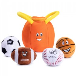 Plush My First Sports Bag with 4 Talking Soft Plush Balls Set