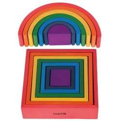 TickiT Rainbow Architect Arches and Squares Set