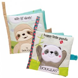 Silly Little Sloth and Happy Little Panda Crinkle Cloth Activity Book Set