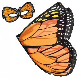 Monarch Butterfly Wings and Mask Set - Orange