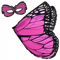 Monarch Butterfly Wings and Mask Set - Pink