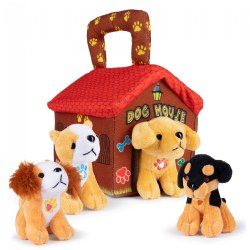 Plush Dog House Talking Animal Set