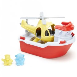 Eco-Friendly Rescue Boat & Helicopter