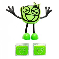 Green Glo Pals Character - Pippa & 2 Green Glo Cubes