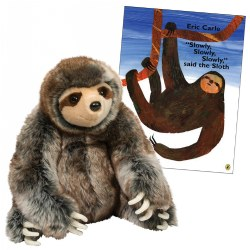 Douglas Cuddle Toys Sylvie Sloth Plush and Book Set