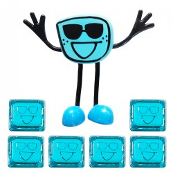 Glo Pals Character Blair & 6 Blue Light Up Water Cubes