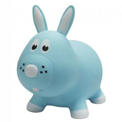 Farm Hoppers® Inflatable Bouncing Blue Bunny Rabbit