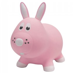 Farm Hoppers® Inflatable Bouncing Pink Bunny Rabbit