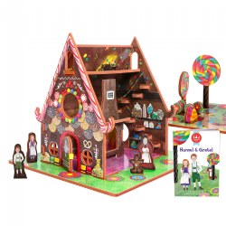 Hansel and Gretel 3D Puzzle - Book and Toy Set - 3 in 1 - Book, Build, and Play