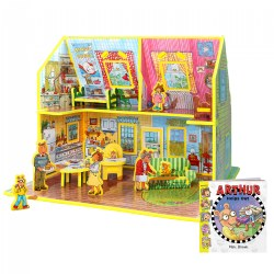 Arthur Toy House 3D Puzzle - Book and Toy Set - 3 in 1 - Book, Build, and Play