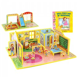 D.W.'s First Day of Preschool 3D Puzzle - Book and Toy Set - 3 in 1 - Book, Build, and Play