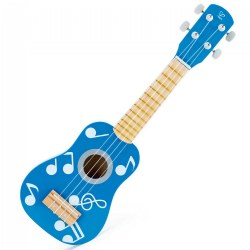 Child's Wooden Blue Ukulele