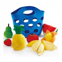 Toddler Felt Basket with Fruit and Peelable Banana