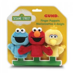 Sesame Street Finger Puppets - Elmo, Big Bird and Cookie Monster