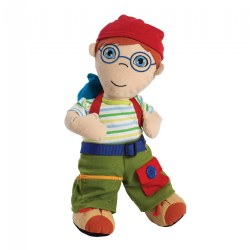 Fastening Learn To Dress Doll - Male with Red Hat