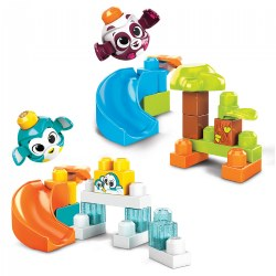 MEGA® BLOKS Peek-A-Blocks™ Panda & Penguin Slide Sets