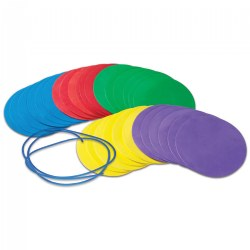 Social Distance Discs - Set of 30 Colored Foam Circle Mats
