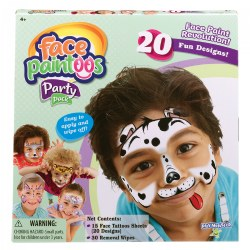 Face Paintoos  - Temporary Face Painting for Individual Use Party Pack