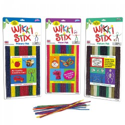 Wikki Stix® - Triple Pak - Nature, Primary, Neon - 144 Pieces