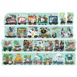 Suuuper Size Alphabet Train 54 Piece Floor Puzzle - Over 11 Feet Long