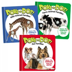 Mini Poke-A-Dot® Book Set - Pet Families, Wild Animal Families, & Farm Animal Families