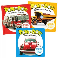 Mini Poke-A-Dot® Book Set - Construction Vehicles, Emergency Vehicles, & Things That Go