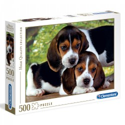 Beagle Puppies Close Together - 500 Piece Puzzle