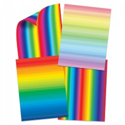 Double Color Rainbow Paper - 96 Double-Sided Sheets