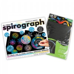Spirograph® Scratch & Shimmer Design Set W/Bonus 12 Magic Color Scratch Sheets