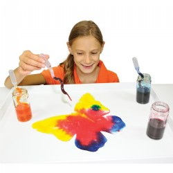 Absorbent Blots of Paper & 15 Squiggle Pipettes for Painting