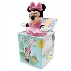 "Minnie Mouse Jack-in-the-Box - New Style - Plays ""Somewhere Over the Rainbow"""