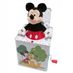 "Mickey Mouse Jack-in-the-Box - Plays ""Mickey Mouse March"""