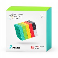 PIXIO Design Series - 100 Magnetic PIXIO Blocks® in Six Colors