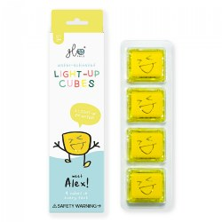 Glo Pals Water Cubes with Extended Battery Life - Yellow