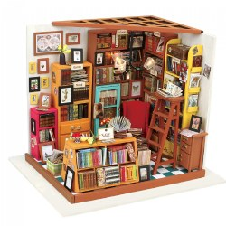 DIY 3D Wooden Puzzles - Miniature House: Sam's Study