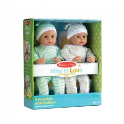 Mine to Love Twins - Sebastian & Sofia Hispanic Dolls with Pacifiers