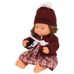 "Doll with Down Syndrome 15"" - Caucasian Girl with Outfit"