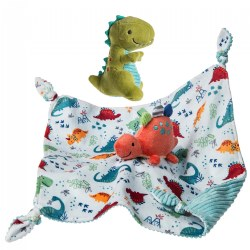 Pebblesaurus Taggies™  Set - Pebblesaurus Blanket & Soft Baby Rattle
