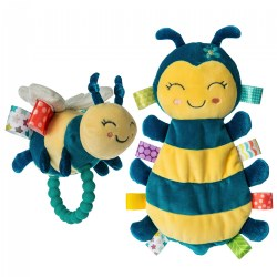 Fuzzy Buzzy Bee Taggies™ Set - Fuzzy Buzzy Bee Lovey & Teether Rattle