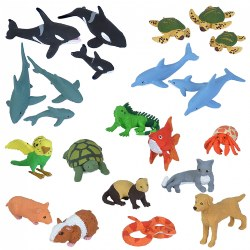 Nature Tube Pets and Aquatic Animals Set
