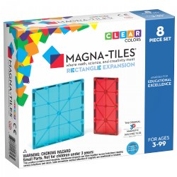 Magna-Tiles® Rectangle Expansion Set - 8 Piece Set