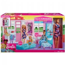 Blonde Hair, Blue Eye Baribe® Close & Go Doll House