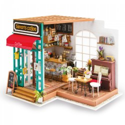 DIY 3D Wooden Puzzles - Miniature House: Simon's Coffee Shop