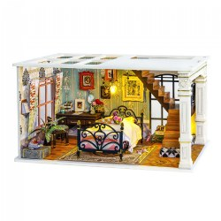 DIY 3D Wooden Puzzles - Miniature House: Paris in Midnight