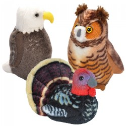 Feathered Friends Authentic Calls - Set of 3 - Wild Turkey, Bald Eagle & Great Horned Owl